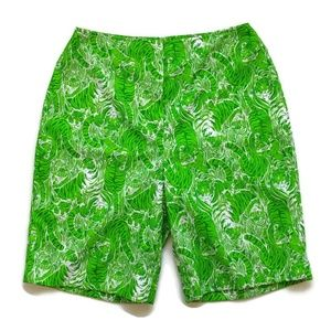 Vintage The Lilly Pulitzer Green Tiger Shorts M